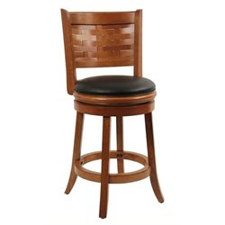 MER-1176 Swivel Bar Stool in Brush Oak