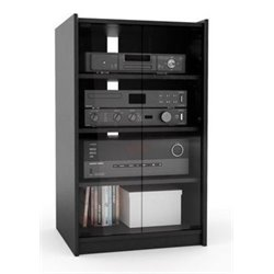 Bowery Hill Enclosed Audio Rack in Ravenwood Black