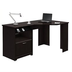 Bowery Hill Corner Computer Desk in Espresso Oak