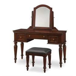 Bowery Hill Vanity and Bench Set