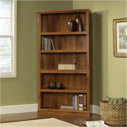 Bowery Hill 5 Shelf Bookcase in Abbey Oak