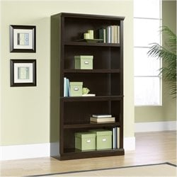 Bowery Hill 5 Shelf Bookcase in Jamocha Wood