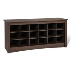 MER-1176 18 Cubby Shoe Storage Bench