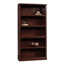 Bowery Hill 5 Shelf Bookcase in Select Cherry