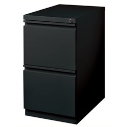 Bowery Hill 2 Drawer Mobile File Cabinet File in Black