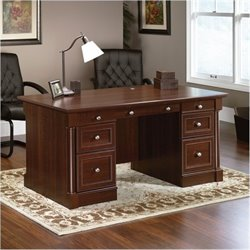 Bowery Hill Executive Desk in Select Cherry