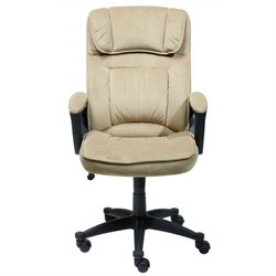 Bowery Hill Microfiber Executive Office Chair in Velvet Coffee
