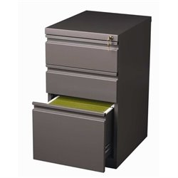 Bowery Hill 3 Drawer Mobile File Cabinet in Med Tone