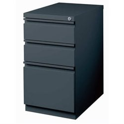 Bowery Hill 3 Drawer Mobile File Cabinet in Charcoal