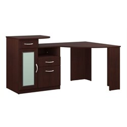 Bowery Hill Corner Home Office Computer Desk in Harvest Cherry