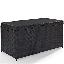 Bowery Hill Wicker Patio Storage Bin
