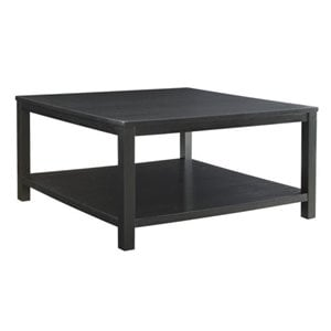 Bowery Hill Square Coffee Table in Black