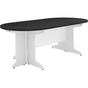 Bowery Hill Small Conference Table in White and Gray