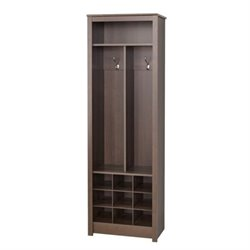 Bowery Hill Shoe Rack Entryway Organizer in Espresso