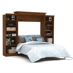 Bowery Hill 115'' Queen Wall Bed in Tuscany Brown