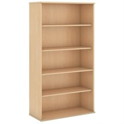 Bowery Hill 5 Shelf Bookcase in Natural Maple