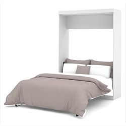 Bowery Hill Full Wall Bed in White
