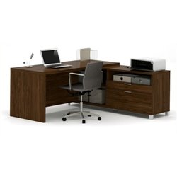 Bowery Hill L-Desk in Oak Barrel