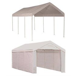 Bowery Hill 10' x 20' 2-in-1 Canopy Pack in White