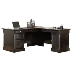 Bowery Hill L-Shaped Desk in Wind Oak