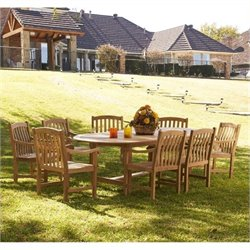 MER-1176 Wood Patio Dining Set