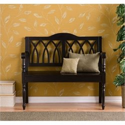 Bowery Hill Bench in Distressed Antique Black