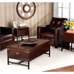 Bowery Hill 3 Piece Trunk Coffee Table Set