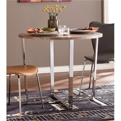 Bowery Hill Round Dining Table in Sunbleached Gray