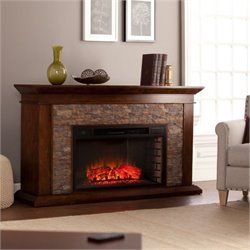 Bowery Hill Electric Fireplace in Maple