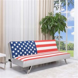 Bowery Hill American Flag Convertible Sofa