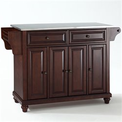 MER-1176 Kitchen Island in Mahogany 2