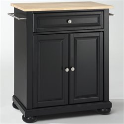 MER-1176 Kitchen Island in Black