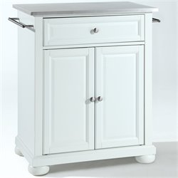 MER-1176 Kitchen Island in White
