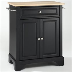 MER-1176 Kitchen Island in Black 1
