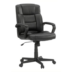 Bowery Hill Leather Office Chair in Black