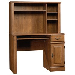 Bowery Hill Computer Desk with Hutch in Milled Cherry