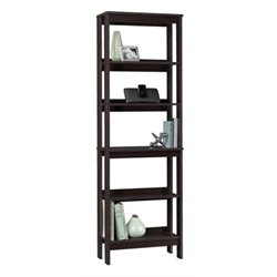 Bowery Hill 5 Shelf Bookcase in Cinnamon Cherry