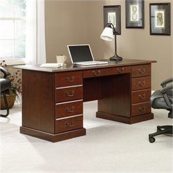 Bowery Hill Executive Desk in Cherry