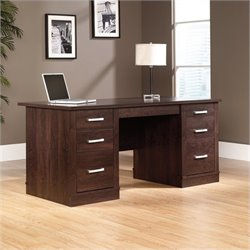Bowery Hill Executive Computer Desk in Dark Alder