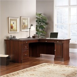 Bowery Hill L-Shaped Computer Desk in Cherry
