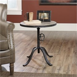 Bowery Hill Round Adjustable End Table
