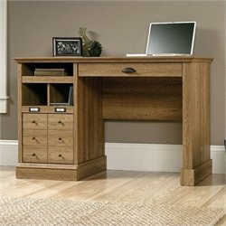 Bowery Hill Home Office Desk in Scribed Oak