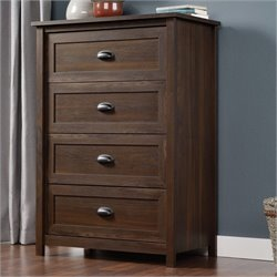 Bowery Hill 4 Drawer Chest in Rum Walnut