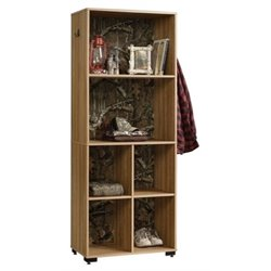 Bowery Hill 6 Shelf Storage Tower in Scribed Oak