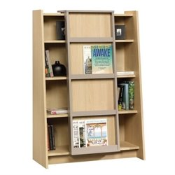 Bowery Hill 4 Shelf Display Bookcase in Urban Ash