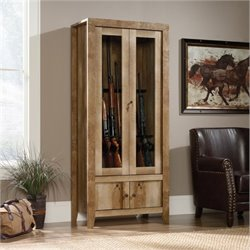 Bowery Hill Gun Display Cabinet in Craftsman Oak