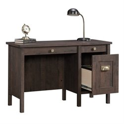 Bowery Hill Home Office Desk in Coffee Oak