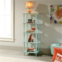 Bowery Hill 4 Shelf Tower Etagere in Seafoam