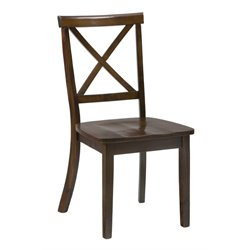 Bowery Hill Dining Chair in Brown Cherry (Set of 2)