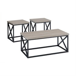 Bowery Hill 3 Piece Coffee Table Set in Orion Ash